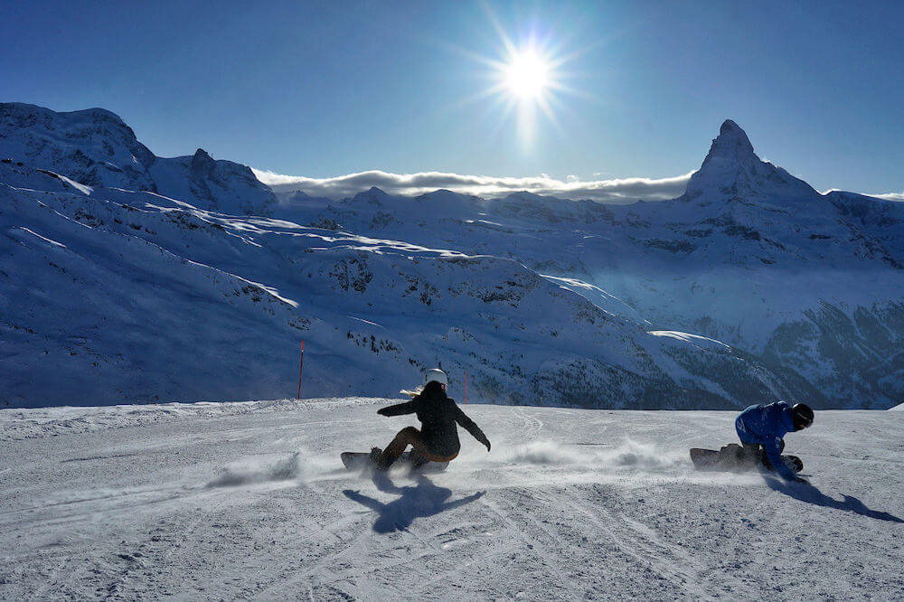 private tailored snowboard lessons, Zermatt